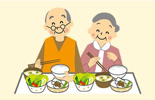季節感を盛り込み、栄養バランスのとれた料理をお出しします。お話しながらなごやかに。